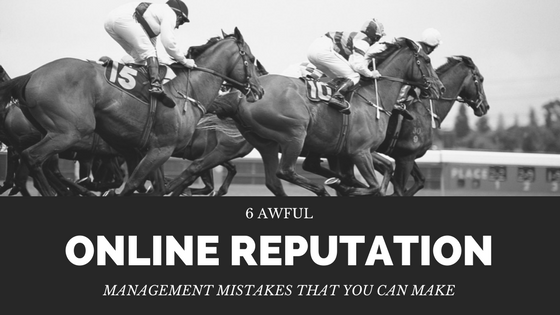 Online reputation management mistakes title image