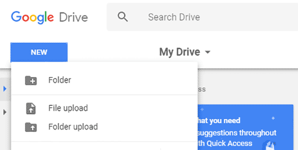 Download Search Results to Google Drive