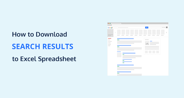 How to Download Search Results to Excel Spreadsheet or