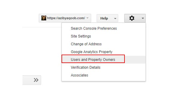 Select users and property owners option