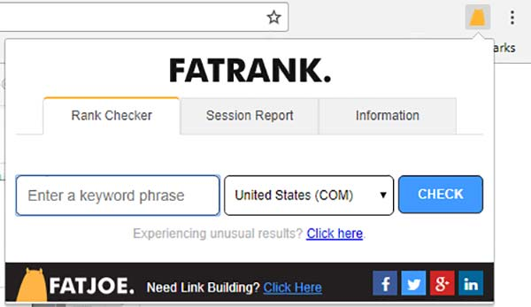 FATRANK - Keyword Rank Checker - Chrome Web Store