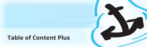 Table of Content Plus - WordPress plugin to add page jumps