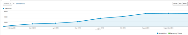 website traffic report in Google analytics