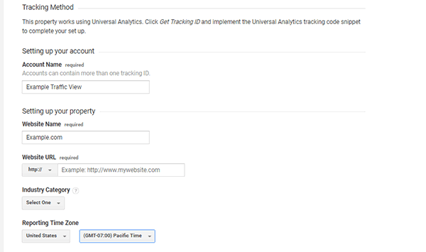 Set up Google Analytics Website Property