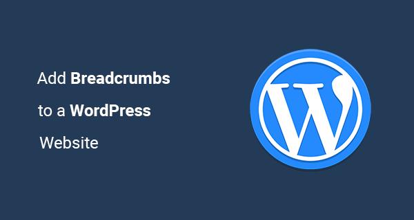 Add WordPress Breadcrumbs