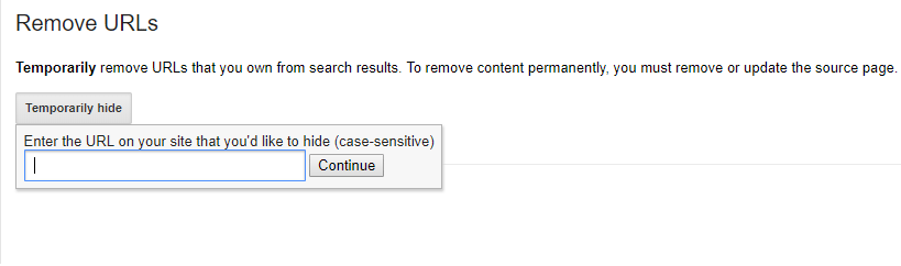 How to remove an entire website from google search console