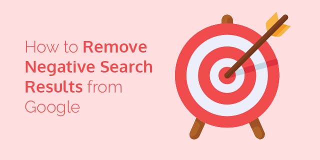 How to remove negative search results