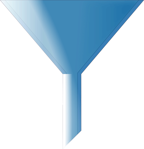 Sales funnel process example