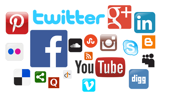 social media profile icons