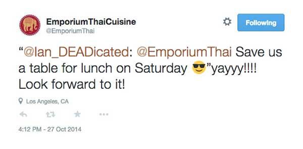 twitter restaurant example