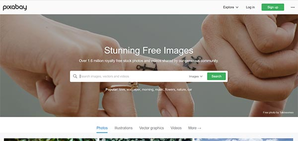 Pixabay Stock Photo Website