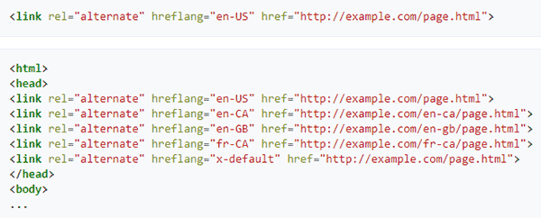 an example of html hreflang attribute