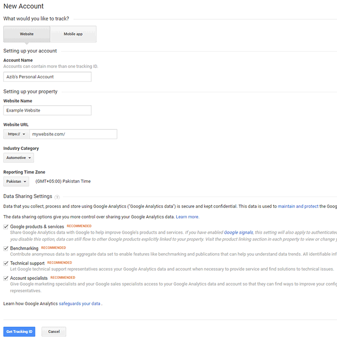 Add Google Analytics tracking code via Google Tag Manager