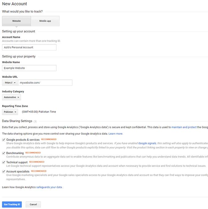 Add Google Analytics tracking code via Google Tag Manager
