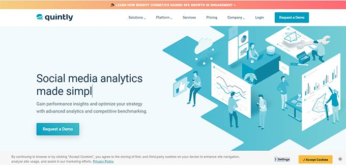 Quintly social media analysis tool