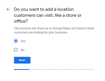 Add business location to your Google My Business listing