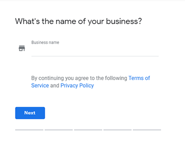 Add your business to create a Google My Business listing
