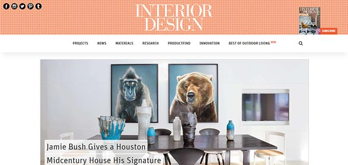 Create an interior design website